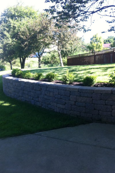 Retaining Wall, Flower Bed