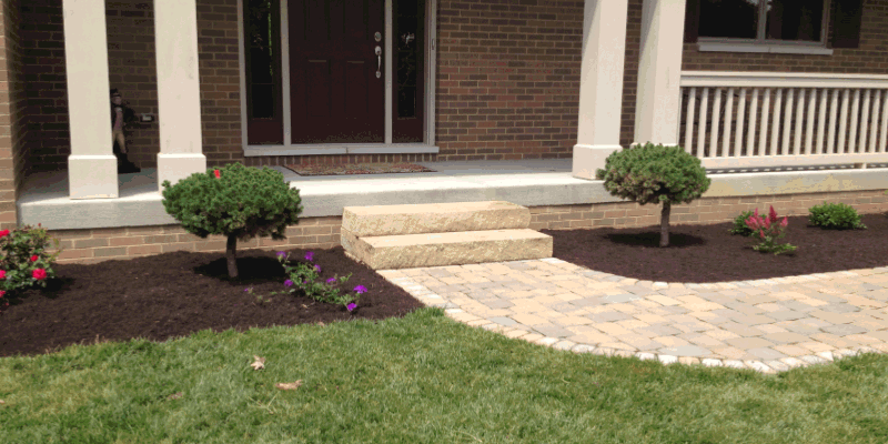 Side Steps and Brick Pavers