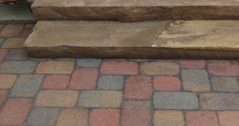 Side Porch, Step and Brick Pavers